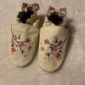 Robeez soft soles - embroidered cherry blossoms